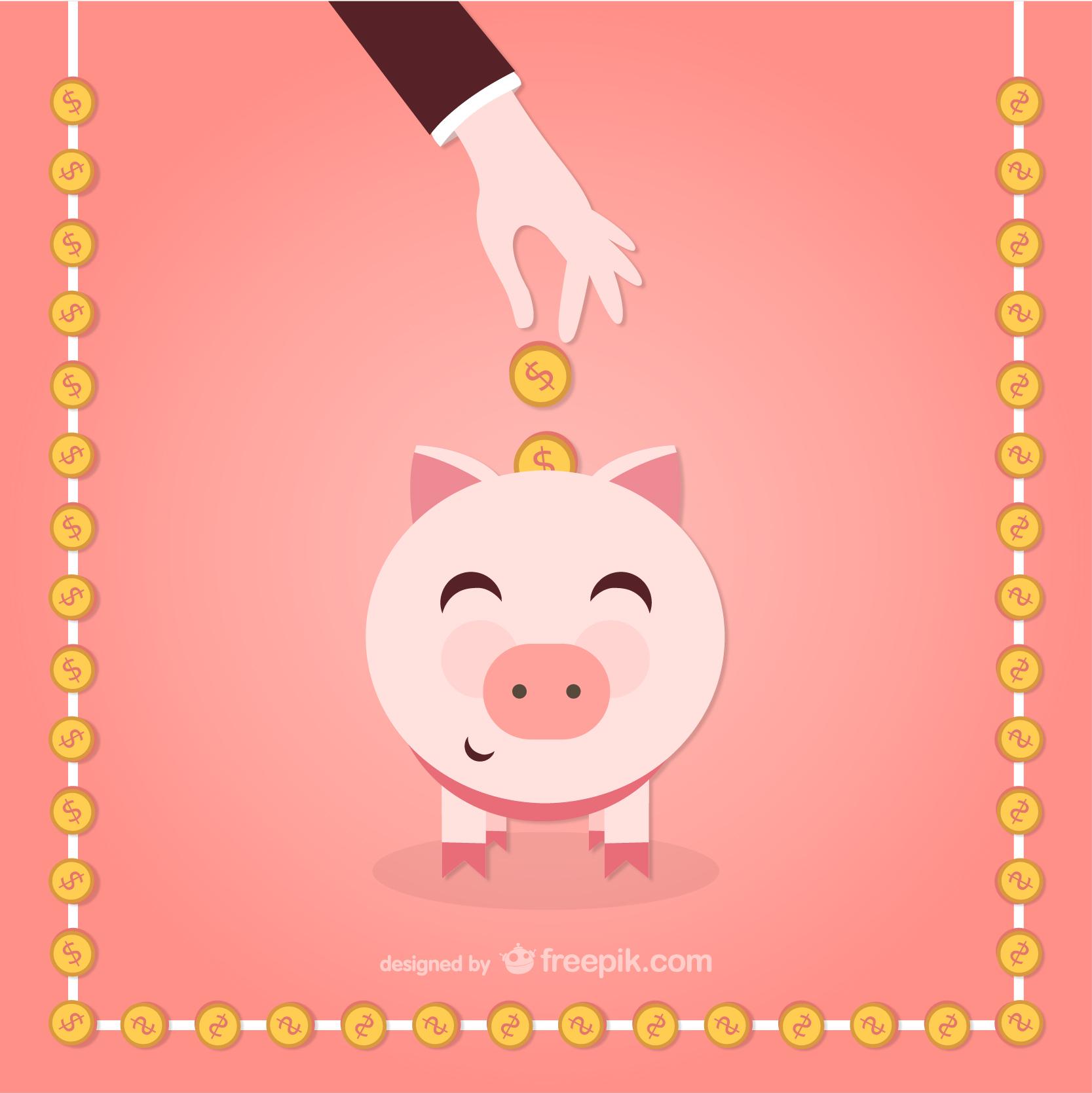 Porquinho para guardar o dinheiro